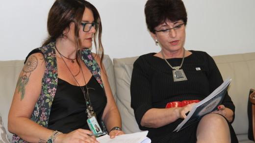 RRAF0006 | Ana Cristina Oliveira, chefe de gabinete do deputado Weverton Rocha (PDT-MA), Ana Cristina de Oliveira, e Terezinha Sperandio, Secretária Executiva da AMUSUH